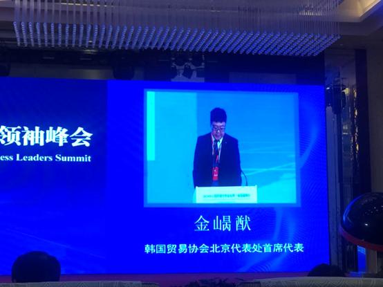 Jin Bingyou making a speech