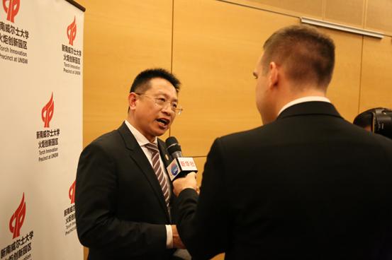 贝罗尼集团董事局主席张伯清先生接受澳洲媒体采访