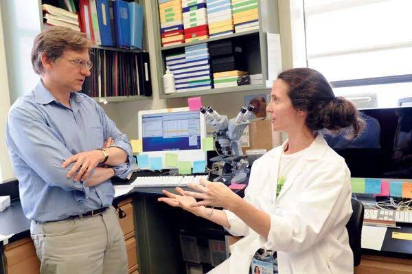 Walter Ian Lipkin教授与科研人员交谈